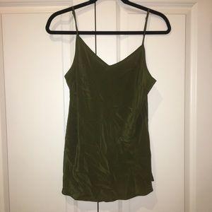 Army green j crew blouse